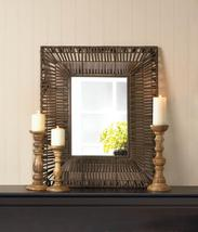 Faux Rattan Wall Mirror Available in 2 Shapes - $69.95