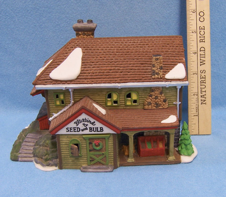 Primary image for Department 56 Heritage Village Bluebird Seed And Bulb Original Box  # 5642-1