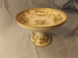 Gorgeous Noritake Japan Compote With Gold Flower Inlay - $16.50
