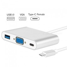 Measy USB Type-C Hub to VGA USB3.0 Splitter, USB 3.1 Type-C VGA Adapter ... - $20.26