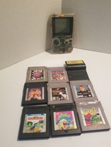 Nintendo GameBoy Pocket Clear MGB-001 With 9 Games tested free 1 day shi... - $198.00