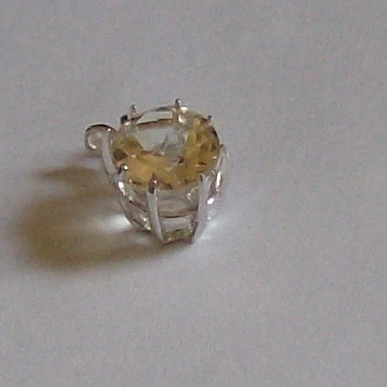Genuine 4.3ct citrine pendant in sterling silver Gorgeous