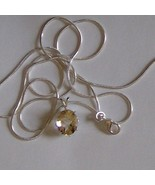 Genuine 4.3ct citrine pendant in sterling silve... - $45.00