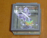 Jewelry Box-Handcrafted Butterfly & Flower Paper Quill on Glass