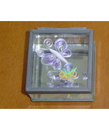 Jewelry Box-Handcrafted Butterfly & Flower Paper Quill on Glass - $29.99