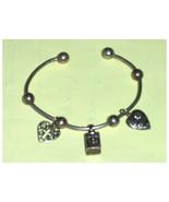 Pandora Style Cuff Sterling Silver Charm Bracelet  - $74.97