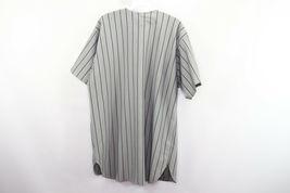 Vintage 90s Mens XL New York Yankees MLB Baseball Jersey Pinstripe Gray Blue image 6