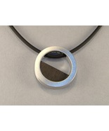 Ebony Eclipse Sterling Silver Pendant Black Rou... - $145.00