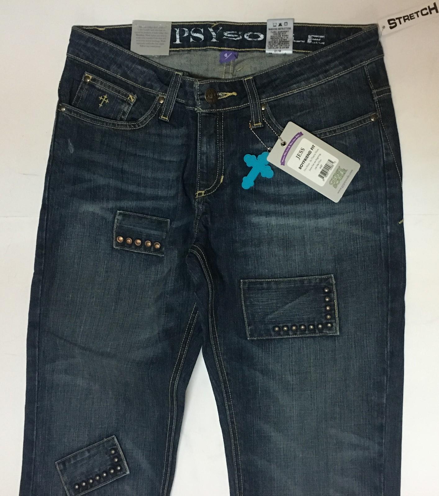 Women's Gypsy Soule Boyfriend Blue Jeans Jess Stretch Sz 28, 30, 34 Waist image 2