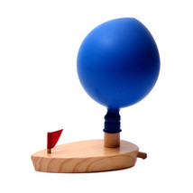 Wooden Balloon Powered Boat Ship Classic Toy Bath Bathroom Water Toys Ba... - $7.60