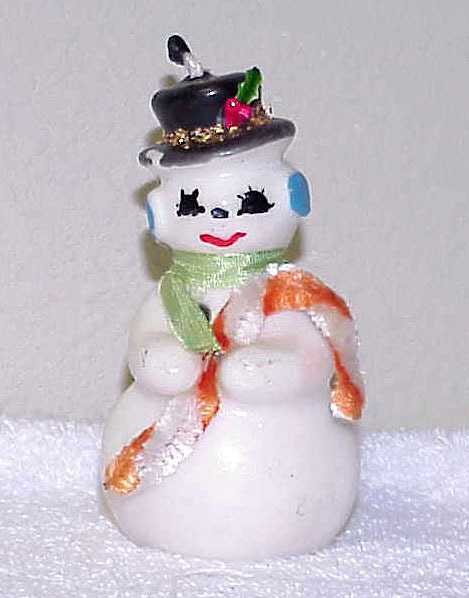 Primary image for Fantastic Vintage Snowman Candle - Japan