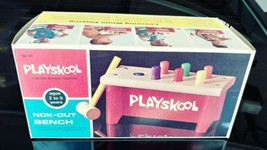 Vintage PlaySkool Wooden Nok-Out Pounding Work Bench 1970 - BOX ONLY! - $23.42