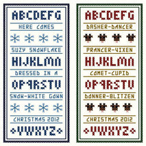 Christmas Mini Samplers set of 4 PDF cross stitch charts John Shirley new design - $89,02 MXN