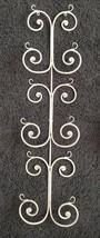 "Scroll Metal Wall 3 Plates Rack Display Holder Large 33.5"" Tall x 7.75"" ... - $23.76"