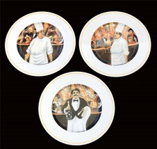 "3 Guy Buffet Chef Cabaret Suite 8"" Plates by Eschenbach Porzellan, Germany USED? - $42.99"
