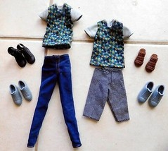 DOLL CLOTHES 12 Piece KEN Mattel 2 Outfits 3 Pr Shoes EUC (T) - $10.99