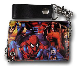 Marvel Heroes Heroes Unite Wallet with Chain Brand NEW! - $34.95
