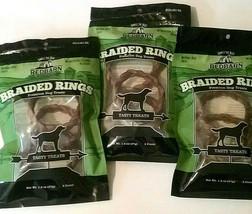 Redbarn Naturals Braided Rings All Beef Dog Treats Dental Health Chews 4... - $25.99 CAD