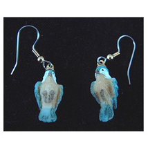 BIRD EARRINGS -Mini Realistic Spring Garden Song Charm Jewelry-B - $6.97