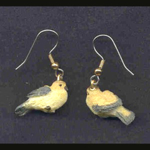 BIRD EARRINGS -Mini Realistic Spring Garden Song Charm Jewelry-L - $6.97