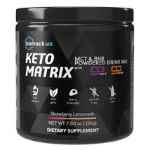BiohackMD Keto Matrix BHB Salts + MCT Oil Powder Strawberry Lemonade - $96.99