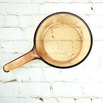 "Vision Corning Fry Pan 7"" Amber Glass Waffle Bottom Skillet France - $21.69"