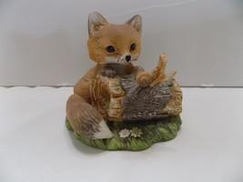 HOMCO Masterpiece Baby Fox #1154 Loveable Beginnings Original Box Wood B... - $5.71