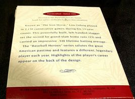 Hallmark Handcrafted Ornaments Baseball Heroes Satchel Paige and Lou Gehrig AA-1 image 9