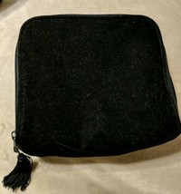Victoria's Secret Black Velour Cosmetic Bag w/Tassel - $7.55