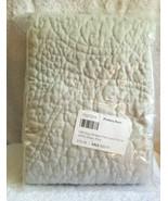 Pottery Barn BELGIAN FLAX LINEN FLORAL STITCH GRAY KING Pillow Sham  NEW... - $49.99