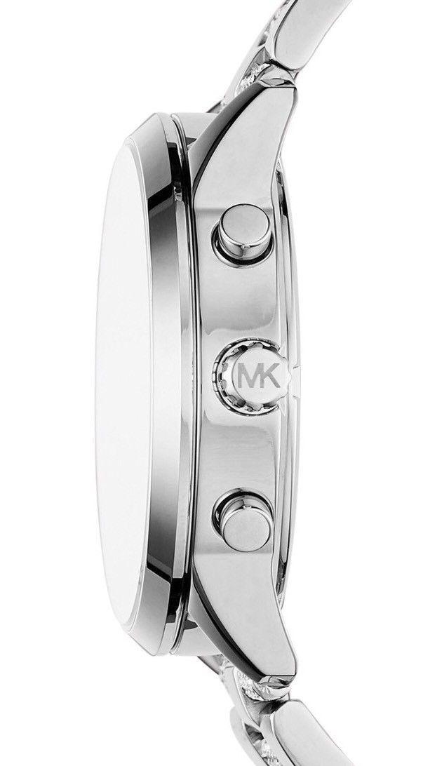 74af211f5319 ... Michael Kors Women Slater Silver Stainless Steel Bracelet Watch MK6552  ...