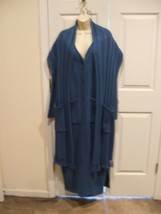 new/pkg $ 159 Newport News Sweater Coat With Pockets Scarf S Malll - $89.09