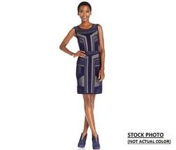 New Spense Women Textured Geo Print Knit Sheath Dress Multi Color Variet... - $35.99