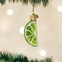 Old World Christmas Lime Slice Blown Glass Fruit Christmas Ornament 28107 - $8.88