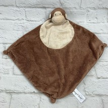 Angel Dear Monkey Security Blanket Lovey Knotted Corners Brown Plush - $10.99