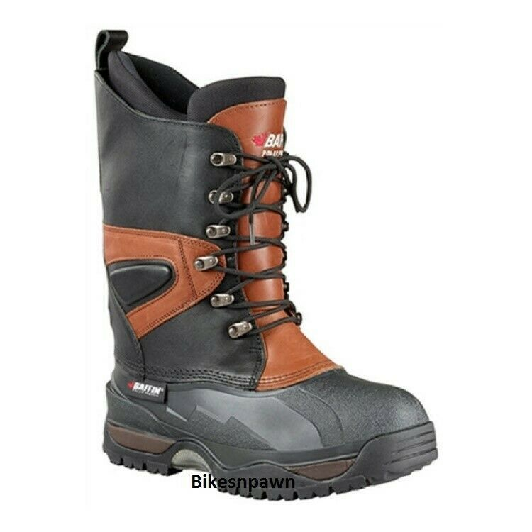 New Mens Size 15 Baffin Apex Leather Snowmobile Winter Snow Boots Rated -148F