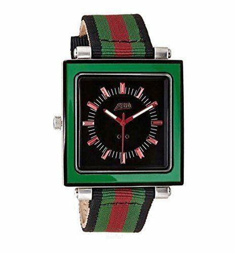 Flud Rivington ( Grn / Rd / Schwarz) Armbanduhr Mit 3 Anders Bänder Brandneu IN