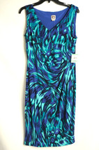 NWT Anne Klein GYPSY Teal Blue Dress Womens 8 $119  Knee-Length Sleeveless - $36.99