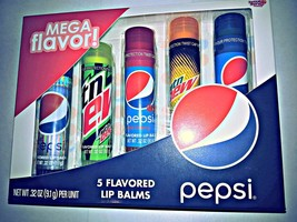 Grand Lotta Luv Pepsi Mega Parfum 5 Pièce Parfumé Baumes pour les Lèvres - $11.24
