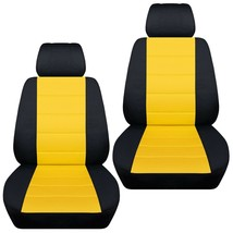 Front set car seat covers fits Chevy Cobalt  2005-2010  black and yellow - $72.99
