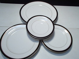 11 Pieces Mikasa Black Tie China ~~ 4 sizes ~ fill ins - $39.95