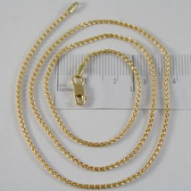 SOLID 18K YELLOW GOLD SPIGA WHEAT EAR CHAIN 20 INCHES, 1.5 MM, MADE IN ITALY image 1