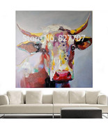 Art Oil Painting home-made Cow modern No Frame - $23.99+