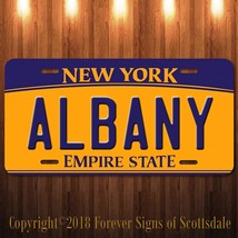 Albany New York City/State/College Vanity Aluminum License Plate New Tag - $12.82