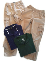 Boys School clothes - Pull on CARGO pants, SZ 10 and polo shirts up to 14 - $19.80