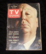 Alfred Hitchcock Leslie Caron Carol Burnett Tv Guide - $14.99