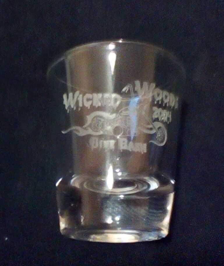 Primary image for Wicked Woods Motorcycle Bike Bash 2004 Shot Glass Rare Item