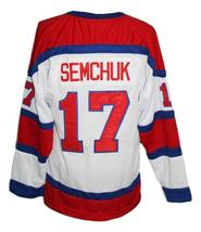 Custom Name # Edmonton Oil Kings Retro Hockey Jersey New Red Semchuk Any Size image 5