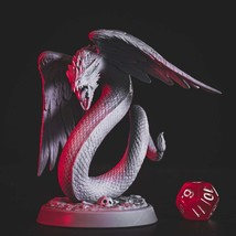 Nordic - Winged Snake - Ancient - 3D - Printed HQ - Resin Miniature - Unpainted  - $14.99