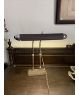 Vtg Art Deco Industrial Drafting Bankers Desk Lamp Table Light  Adjustab... - $56.09